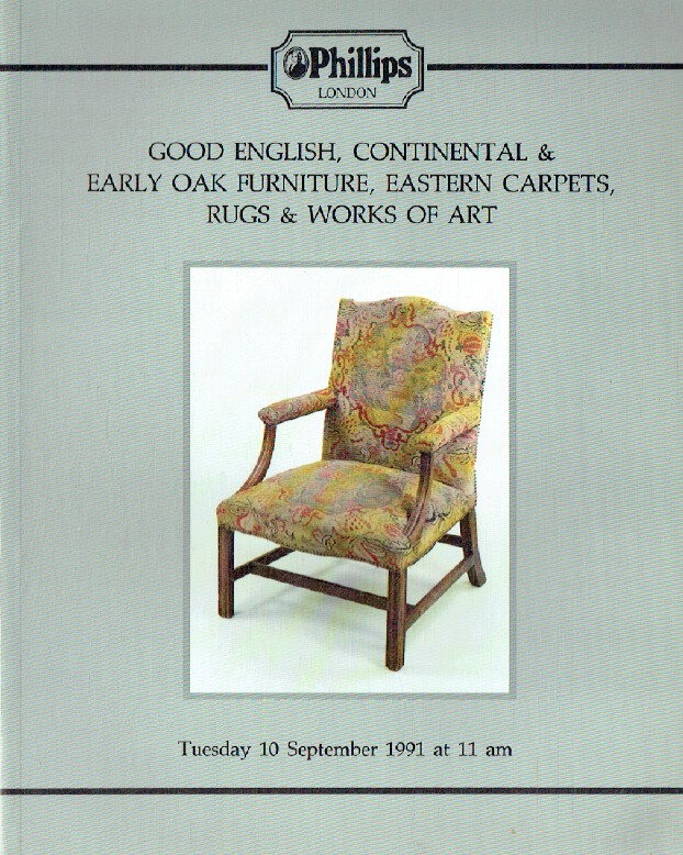 Phillips September 1991 Good English, Continental & Early Oak Furniture, Eastern