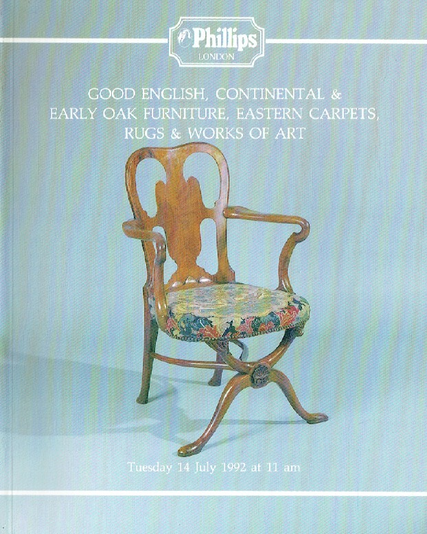 Phillips July 1992 Good English, Continental & Early Oak Furniture, Eastern Carp