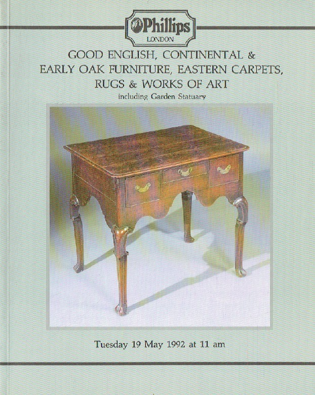 Phillips May 1992 Good English, Continental & Early Oak Furniture, Eastern Carpe