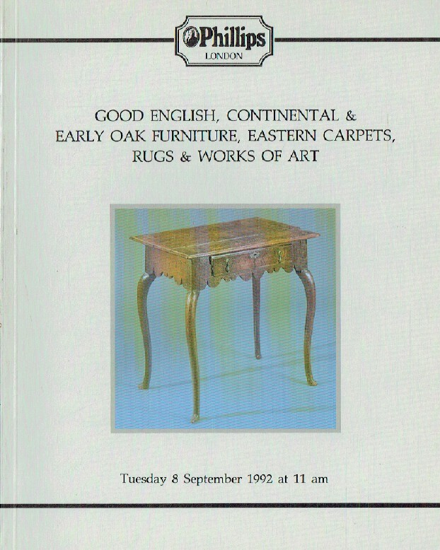 Phillips September 1992 Good English, Continental & Early Oak Furniture, Eastern