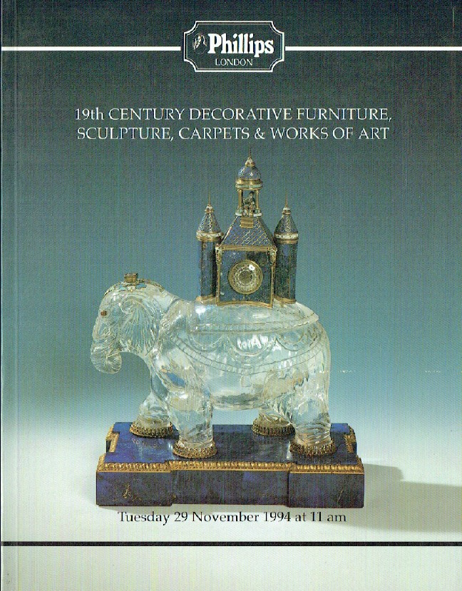 Phillips November 1994 19th Century & Decorative Furniture, Sculpture, Carpets a