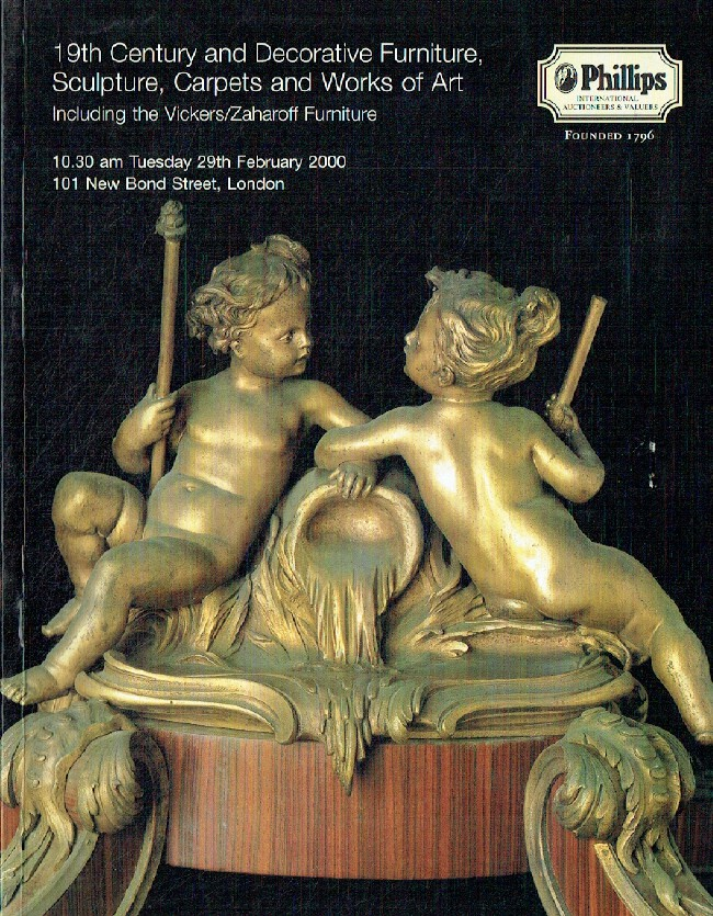 Phillips February 2000 19th Century & Decorative Furniture, Sculpture, Carpets a