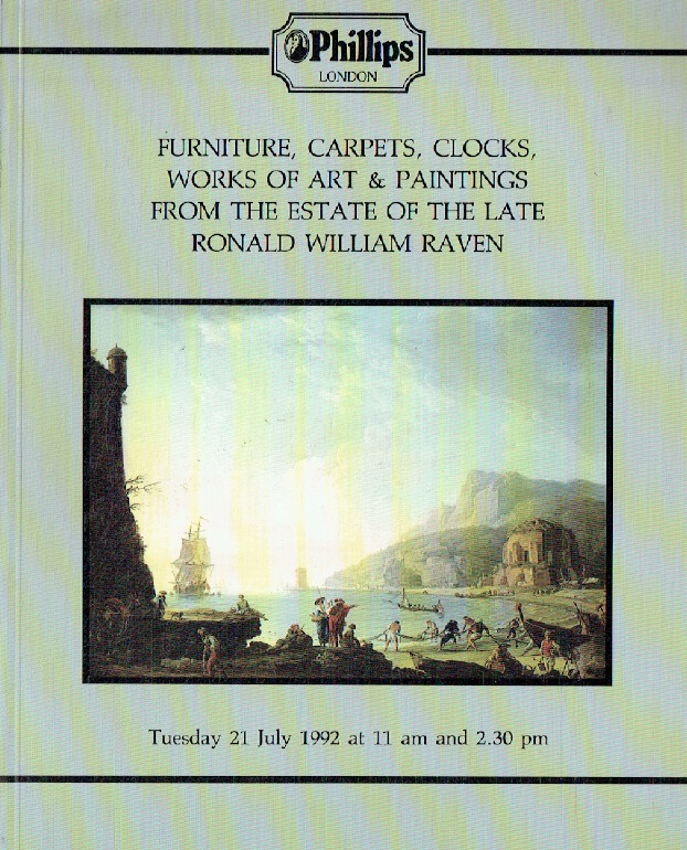 Phillips July 1992 Furniture, Carpets, Clocks, Works of Art & Paintings, The Est