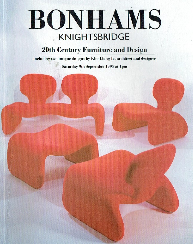 Bonhams September 1995 20th Century Furniture & Design Inc. Two Unique Designs b