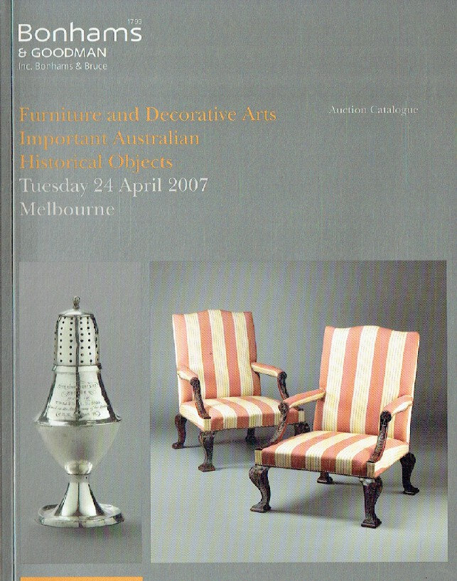 Bonhams & Goodman April 2007 Furniture & Decorative Arts Important Australian Hi