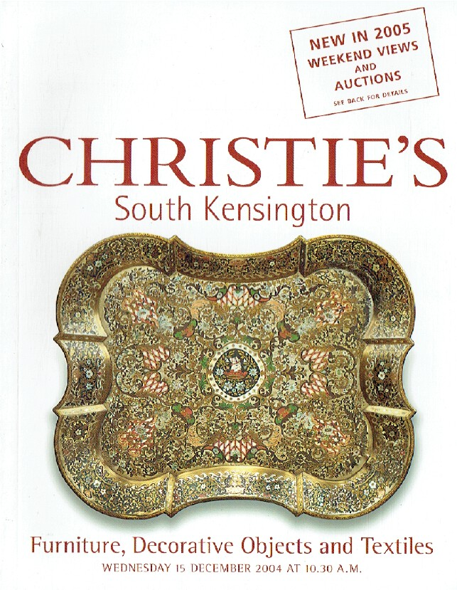 Christies December 2004 Furniture, Decorative Objects & Textiles