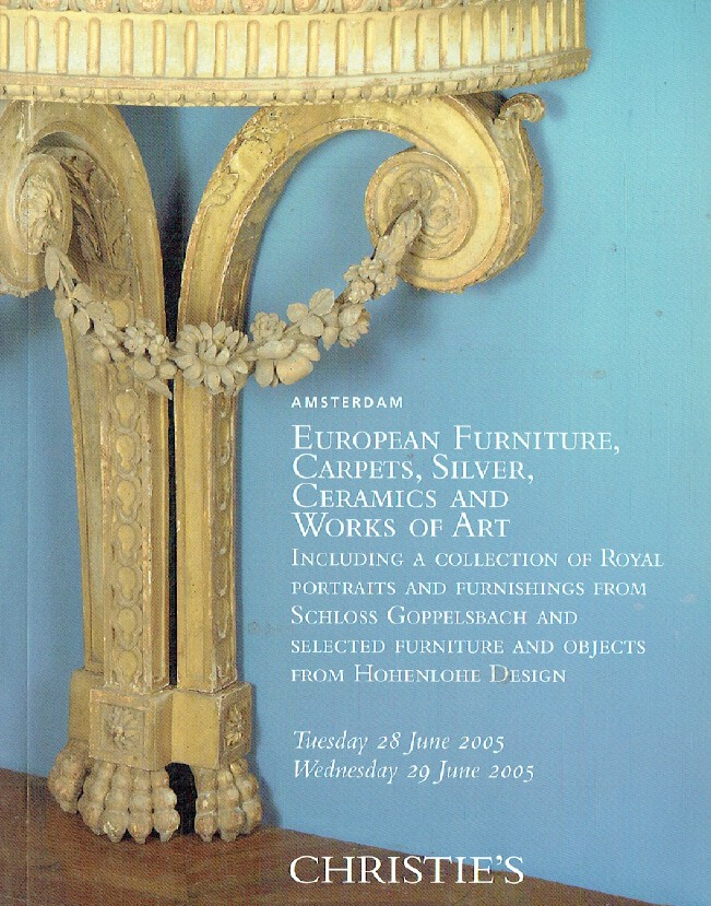 Christies June 2005 European Furniture, Carpets, Silver, Ceramics & WOA, Inc. C