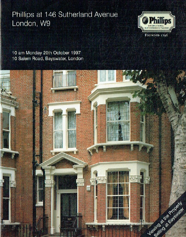 Phillips October 1997 Phillips at 146 Sutherland Avenue London, W9