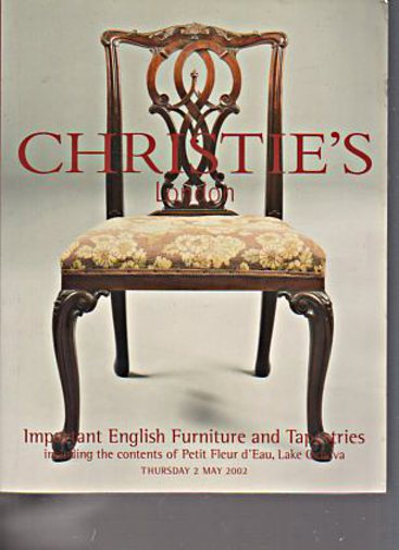 Christies 2002 Important English Furniture, Tapestries