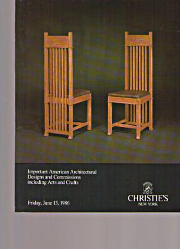 Christies 1986 Architectural Designs & Arts & Crafts