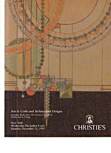 Christies 1993 Arts & Crafts, Architectural Designs