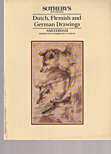 Sothebys 1987 Dutch, Flemish & German Drawings