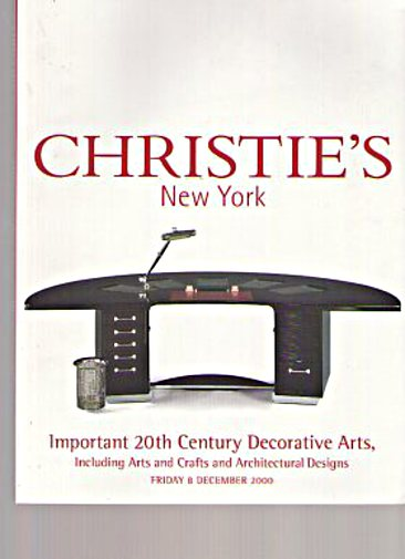 Christies 2000 Important 20th C Decorative Arts