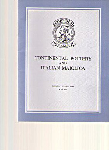 Christies 1980 Important Italian Maiolica & Continental Pottery