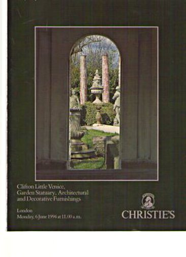 Christies 1994 Garden Statuary, Architectural Furnishings