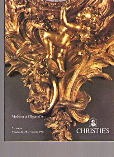 Christies 1994 French Furniture & Works of Art