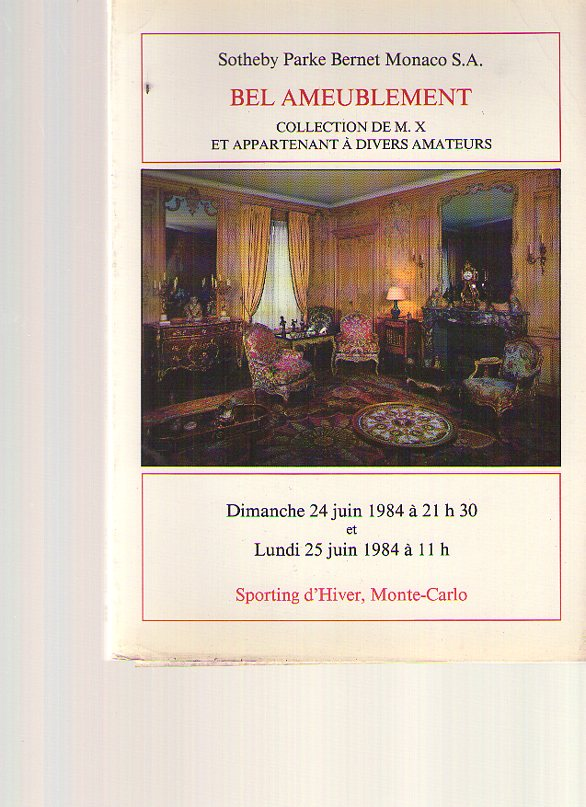 Sothebys 1984 Fine French Furniture & Works of Art