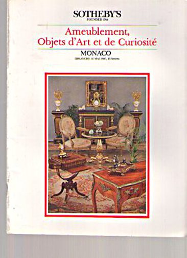 Sothebys 1987 French Furniture, Objects of Art & Curiosites