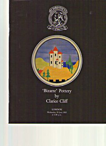 Christies 1983 'Bizarre' Pottery by Clarice Cliff