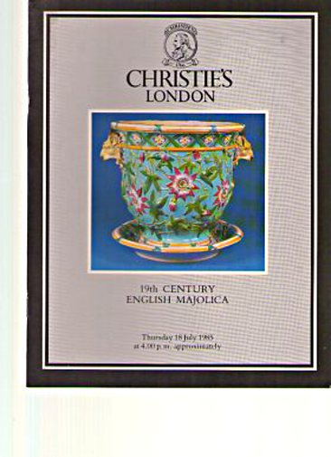Christies 1985 19th Century English Majolica