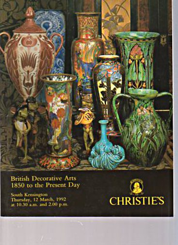 Christies 1992 British Decorative Arts 1850 Present Day