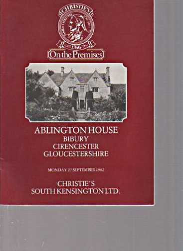Christies 1982 Ablington House Bibury, Gloucestershire