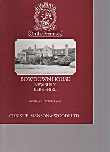 Christies 1982 Bowdown House Berkshire