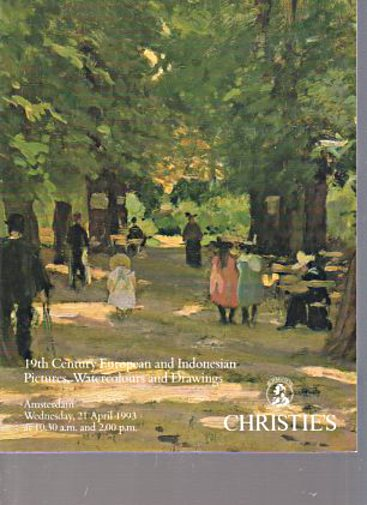Christies 1993 19th Century European & Indonesian Art