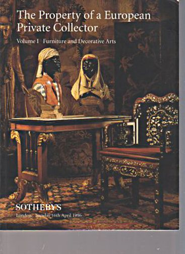 Sothebys 1996 European Collector Furniture, Decorative Arts
