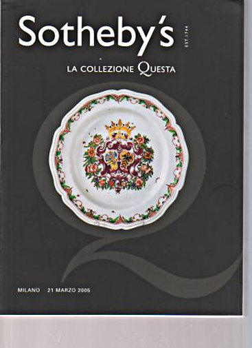 Sothebys 2005 Questa Collection Maiolica & Porcelain
