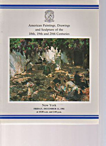 Christies 1981 American Paintings of the 19th & 20th Centuries