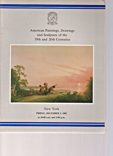 Christies 1982 American Paintings of the 19th & 20th Centuries
