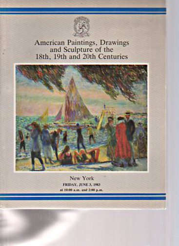 Christies 1983 American Paintings 18th, 19th & 20th Centuries