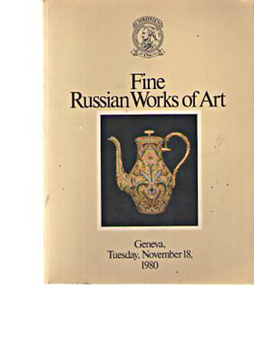 Christies 1980 Fine Russian Works of Art