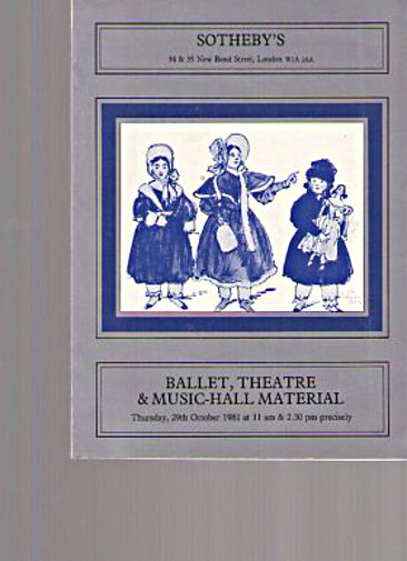 Sothebys 1981 Ballet & Theatre Material & Music-Hall