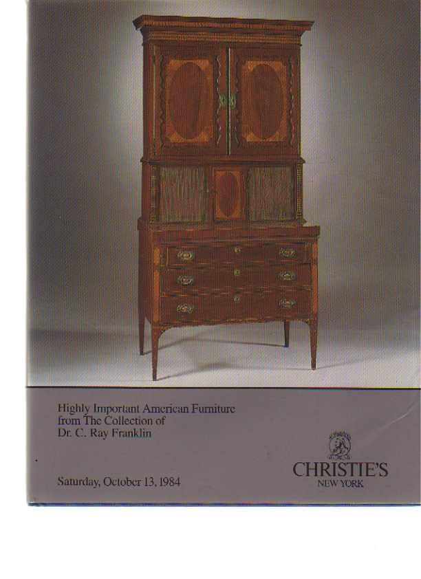 Christies 1984 Franklin Collection Important American Furniture
