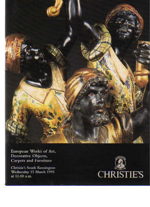 Christies 1995 European Works of Art, Carpets, Furniture