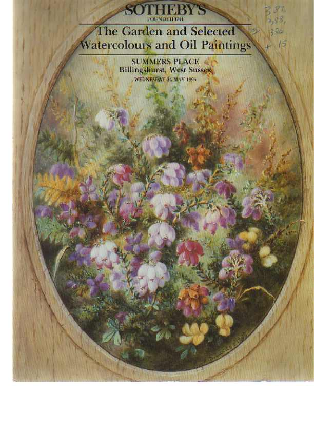 Sothebys 1995 The Garden, Watercolours & Oil Paintings