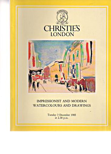 Christies December 1985 Impressionist & Modern Watercolours, Drawings
