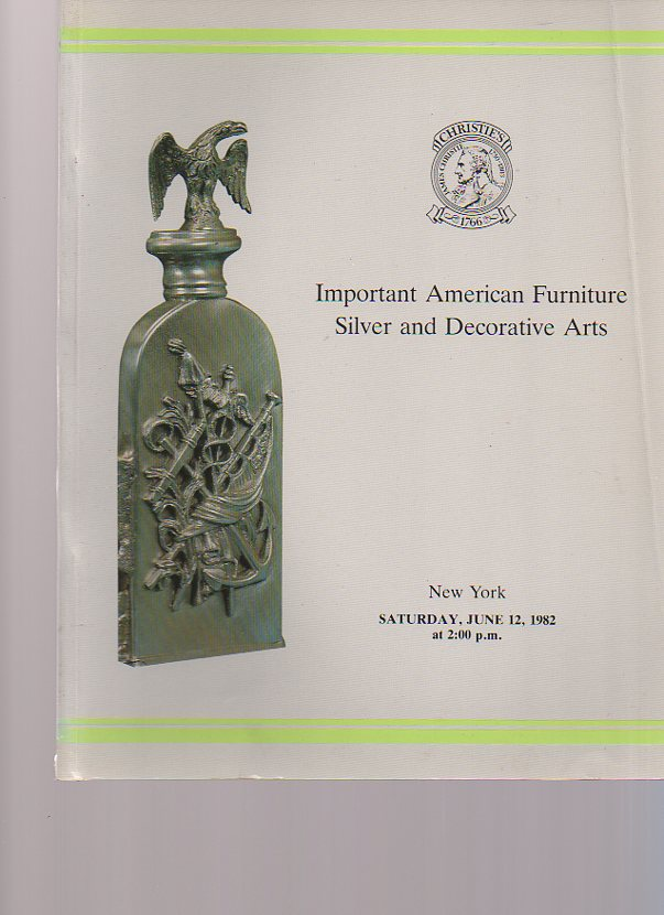 Christies 1982 Important American Furniture, Silver