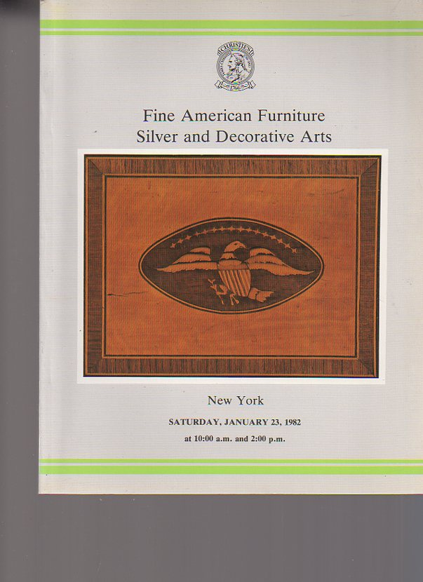 Christies 1982 Fine American Furniture, Silver
