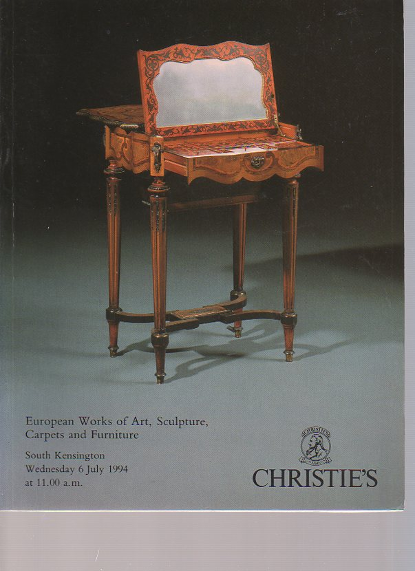 Christies 1994 European Works of Art, Sculpture