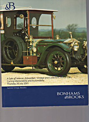 Bonham & Brooks 2001 Veteran, Edwardian, Vintage Motor Cars