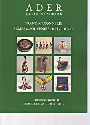 Ader/Nordmann 2010 Antique Arms, French Masonry