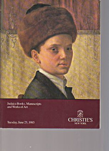 Christies 1990 Judaica Books, Manuscripts & Works of Art