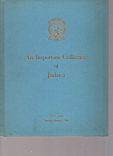 Christies 1980 An Important Collection of Judaica
