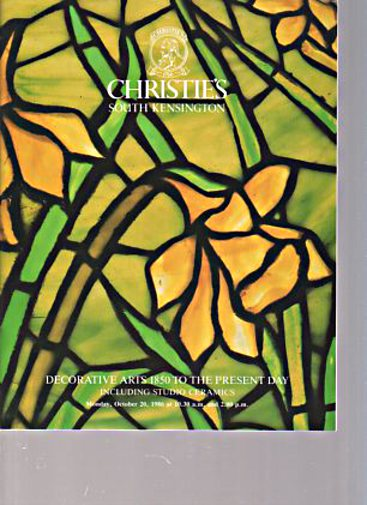 Christies October 1986 Decorative Arts 1850 to Present Day, Ceramics