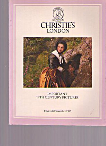 Christies November 1983 Important 19th Century Pictures
