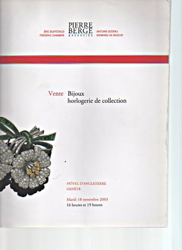 Bergé 2003 Jewels and Collector's Watches