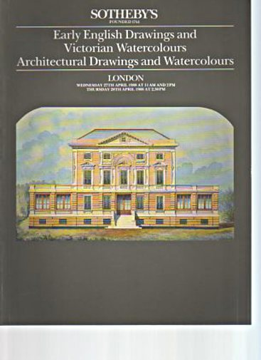 Sothebys 1988 English, Victorian & Architectural Drawings